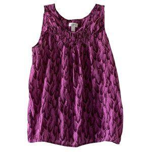 Loft Purple Sleeveless Blouse Tank Top M